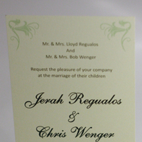 Stationery, yellow, green, invitation, Invitations, Flourish, Something green