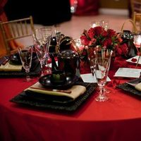 Reception, Flowers & Decor, red, Centerpieces, Centerpiece, A loves in bloom