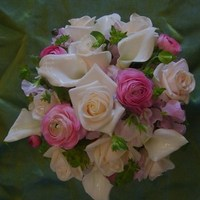 Flowers & Decor, white, pink, Bride Bouquets, Flowers, Bouquet, Bridal, A loves in bloom