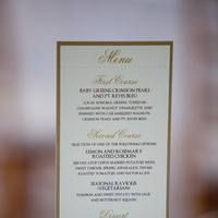 white, gold, Menu