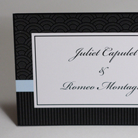 Stationery, white, blue, black, Invitations, Something green