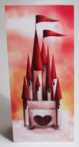 Stationery, orange, pink, red, Invitations, Princess, Castle, Something green, Fairy tale