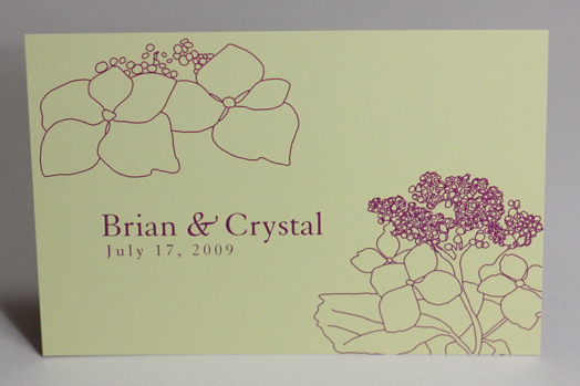 Flowers & Decor, Stationery, yellow, purple, Invitations, Flower, Hydrangea, Something green