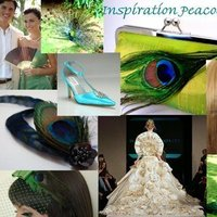 Beauty, Inspiration, Flowers & Decor, Jewelry, Wedding Dresses, Shoes, Stationery, Fashion, blue, green, brown, black, gold, dress, Invitations, Flowers, Wedding, Hair, Board, Decoration, Peacock, The beginning of forever, Flower Wedding Dresses