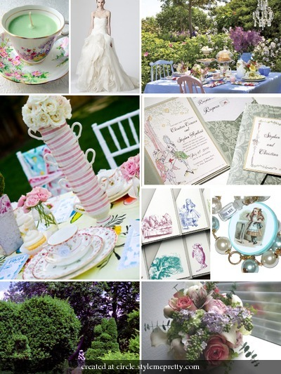 Inspiration, white, yellow, pink, purple, Party, Board, Tea, In, Wonderland, Alice