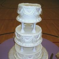Cakes, white, pink, purple, cake, The cake cottage