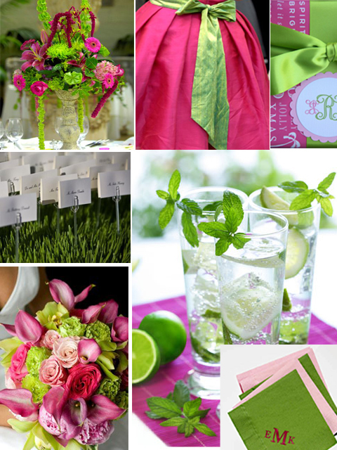 Inspiration, pink, green, Board