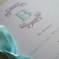 Ceremony, Inspiration, Flowers & Decor, Stationery, white, purple, Glam Wedding Invitations, Invitations, Wedding, Romantic, Program, Board, Bespoke, 2bsquared designs