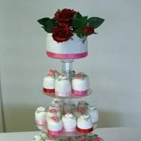 Cakes, white, pink, red, cake, The cake cottage