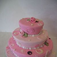 Cakes, pink, cake, Geometric, The makery
