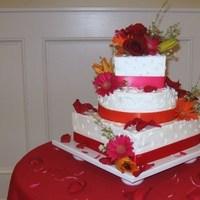 Cakes, white, orange, pink, red, cake, The cake cottage