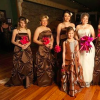 Bridesmaids, Bridesmaids Dresses, Wedding Dresses, Fashion, ivory, brown, dress, Chocolate