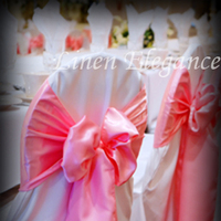 Reception, Flowers & Decor, pink, Chair, Sash, Cover, Satin, Linen elegance