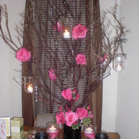 Reception, Flowers & Decor, pink, black, Flowers