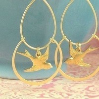 Jewelry, Bridesmaids, Bridesmaids Dresses, Fashion, gold, Earrings, Bridesmaid, Bird, Lovebirds