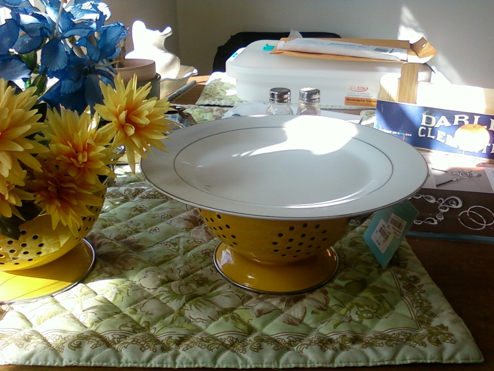 Flowers & Decor, Cakes, Registry, yellow, cake, Centerpieces, Kitchen, Kitchen Appliances, Flowers, Macy's, Centerpiece, Cookies, Floral, Arrangement, Stand, Retro, Martha, Stewart, Chic, Deserts, Shabby, Oranges, Collander, Clemantines