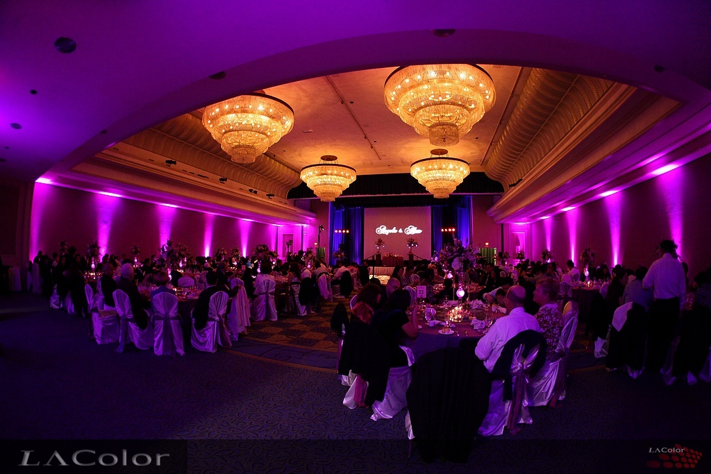 Lighting Effect Provided By LAColorvendors LA Color Project Wedding