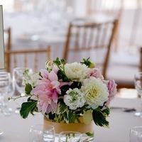 Flowers & Decor, white, pink, green, Centerpieces, Flowers, Roses, Centerpiece, Low, Dahlias, Stock, The blue orchid