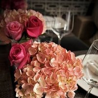 Reception, Flowers & Decor, white, pink, green, Centerpieces, Flowers, Centerpiece, Vows and veils ballroom