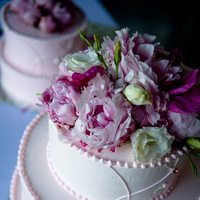 Flowers & Decor, Cakes, white, pink, red, cake, Flowers, J e bock photography