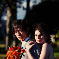 Flowers & Decor, Wedding Dresses, Fashion, white, orange, pink, red, green, silver, dress, Bride Bouquets, Bride, Flowers, Groom, Portrait, Couple, Bouqet, J e bock photography, Flower Wedding Dresses