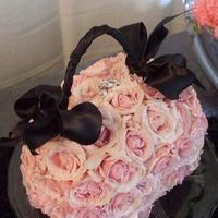 Flowers & Decor, pink, black, Flowers, Floral, Purse, The blue orchid, Spray roses