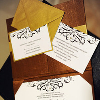 Inspiration, Stationery, white, yellow, brown, gold, Invitations, Board, Recherché by skratchaus studios