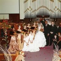 Ceremony, Flowers & Decor, Bridesmaids, Bridesmaids Dresses, Fashion, orange, brown, gold, Ceremony Flowers, Bridesmaid Bouquets, Flowers, Maximum capacity events, Flower Wedding Dresses