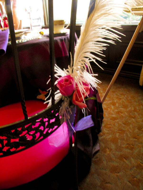 Beauty, Reception, Flowers & Decor, pink, purple, brown, gold, Feathers, Tables & Seating, Flowers, Chairs, Maximum capacity events