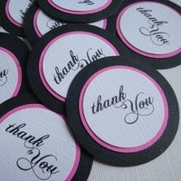 Ceremony, Reception, Flowers & Decor, Favors & Gifts, Stationery, white, pink, black, Favors, Invitations, Thank You Notes, Gifts, You, Thank, Tags, Invites by jen