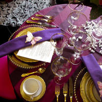 Reception, Flowers & Decor, pink, purple, brown, gold, Table, Place, Setting, Tablescape, Charger, Maximum capacity events