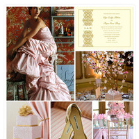 Inspiration, pink, gold, Board