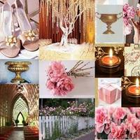 Inspiration, Reception, Flowers & Decor, pink, gold, Board