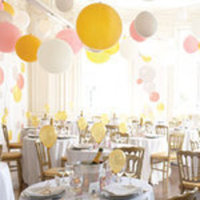 Ceremony, Reception, Flowers & Decor, white, yellow, silver