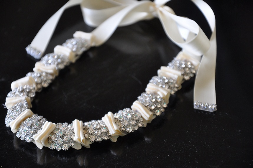 Beauty, Jewelry, Bridesmaids, Bridesmaids Dresses, Wedding Dresses, Fashion, white, ivory, dress, Necklaces, Tiaras, Headbands, Hair, Tiara, Sash, Crystal, Ribbon, Necklace, Belt, Swarovski, Headband, Bling, Pleated, Belle nouvelle designs, Neck, Statement