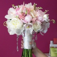 Flowers & Decor, Bridesmaids, Bridesmaids Dresses, Fashion, white, pink, gold, Bride Bouquets, Bridesmaid Bouquets, Flowers, Bouquet, Sweet, Of, Bridal, Orchids, The, Lily, Peonies, Fern, Peony, Valley, Crystals, Ranunculus, Pea, Pale, Fiddlehead, Mocha rose floral designs, Pastel, Uhule, Flower Wedding Dresses