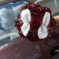 Flowers & Decor, white, red, silver, Flowers, Events n things by lynn