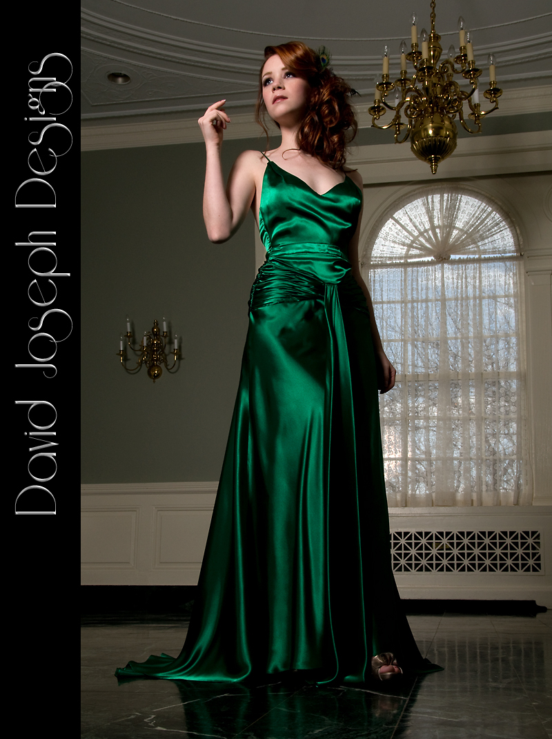 Bridesmaids, Bridesmaids Dresses, Wedding Dresses, Vintage Wedding Dresses, Fashion, green, dress, Vintage, Gown, Train, Satin, Silk, 1930s, David joseph designs, satin wedding dresses, Silk Wedding Dresses