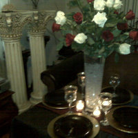 Flowers & Decor, white, red, black, gold, Flowers, Events n things by lynn