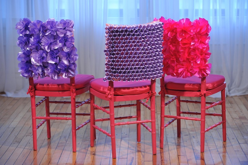 Reception, Flowers & Decor, pink, purple, Chiavari, Chair, Cover