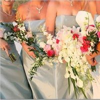 Flowers & Decor, white, pink, Bride Bouquets, Bridesmaid Bouquets, Flowers, Bridesmaid, Brides, And