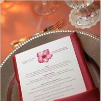 Reception, Flowers & Decor, Stationery, white, pink, Invitations, Menus