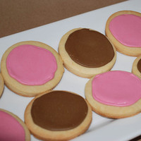 pink, brown, Cookies, Karas cakery