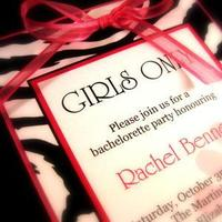 Stationery, white, pink, black, invitation, Invitations, Party, Bachelorette, Girly, Zebra, Jolie papeterie boutique