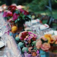 Reception, Flowers & Decor, pink, blue, green, Flowers