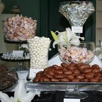 Reception, Flowers & Decor, white, green, black, Wedding, Chocolate, Candy, Buffet, Buffets