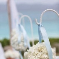 Ceremony, Flowers & Decor, blue, Beach, Ceremony Flowers, Flowers, Beach Wedding Flowers & Decor
