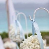 Ceremony, Flowers & Decor, blue, Beach, Ceremony Flowers, Flowers, Beach Wedding Flowers & Decor