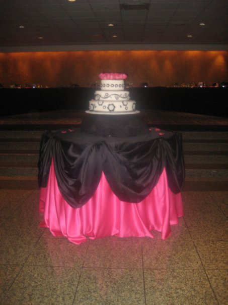 Cakes, pink, black, cake, Linens, Affordable elegance chair covers linens