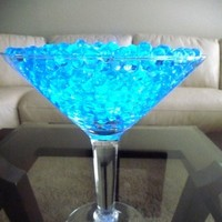 Ceremony, Inspiration, Reception, Flowers & Decor, Registry, blue, Ceremony Flowers, Centerpieces, Drinkware, Flowers, Wedding, Teal, Board, Beading, Martini, Glasses, Turquoise, Acrylic, Savannah event decor